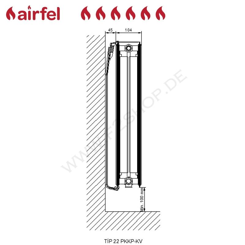 flachheizk rper kompakt ventil type 22 900 x 0800 mm hxl anschluss links vl 22 90 080. Black Bedroom Furniture Sets. Home Design Ideas